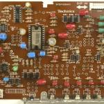 Technics (テクニクス) SL-1000mk3 ドライブ回路基板部品面 メンテナンス後