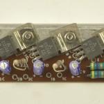 LUXMAN (ラックスマン) DP121 パワートランジスタ回路基板 部品面 オーバーホール前