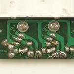 LUXMAN (ラックスマン) DP121 パワートランジスタ回路基板 半田面 オーバーホール前