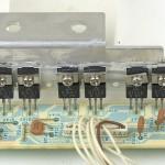 Technics (テクニクス) SP-10mk2A パワートランジスタ回路基板 部品面 メンテナンス前