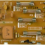 Technics (テクニクス) SP-10mk3 ヒューズ回路基板 部品面 メンテナンス前