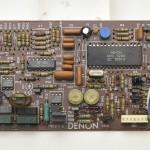 DENON (デノン) DP-80 クオーツサーボ回路基板 部品面 メンテナンス前