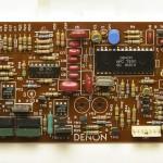DENON (デノン) DP-80 クオーツサーボ回路基板 部品面 メンテナンス後